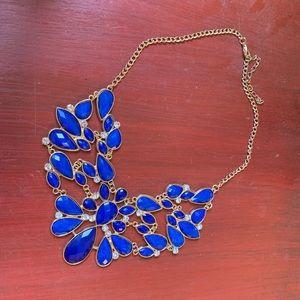 Jewelry - Blue & Gold-Tone Bib Statement Necklace